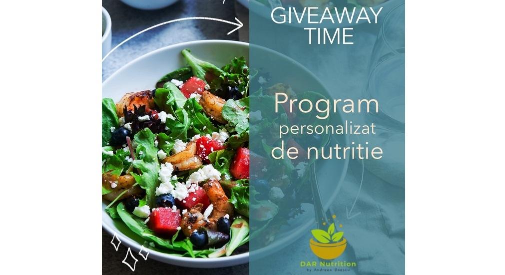 Giveaway program de nutriţie